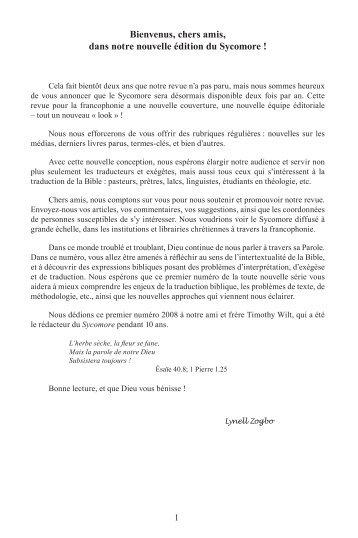 Le Sycomore 2/1 - UBS Translations