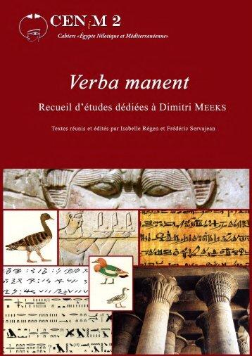 Verba manent - La recherche - Université Paul Valéry