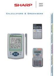 Calculator and Organizers 2003-2004 Brochure GB - Sharp
