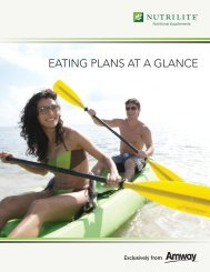 EATING PLANS AT A GLANCE - Amway