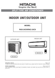 1 - Hitachi Air Conditioning Products