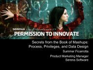 Secrets from the Book of Mashups: Process ... - Serena Software