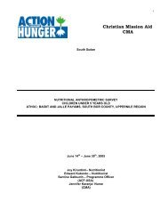 Christian Mission Aid CMA - Action Against Hunger