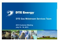 2013 Customer Meeting - DTE Pipeline