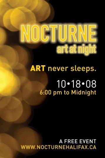ART never sleeps. - Art Gallery of Nova Scotia