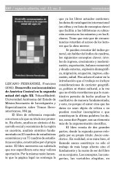 390 / espacio abierto, vol. 11, no. 2 recensiones - Convergencia ...