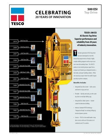 500 ESI Top Drive - TESCO Corporation