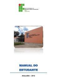 Manual do Estudante - Campus Ilhéus - IFBA