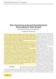 Der Verkehrsverbund KreisVerkehr Schwäbisch Hall GmbH