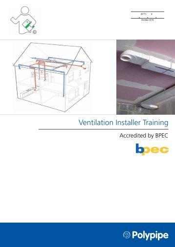 Ventilation Installer Training - NMBS