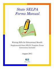 IEP Forms Manual - Lake County Office of Education