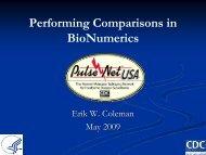 Performing Comparisons in BioNumerics - PulseNet International