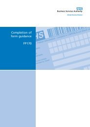 Guidence FP170 A4 - NHS Business Services Authority