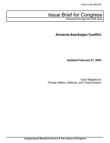 Armenia-Azerbaijan Conflict - PARDS