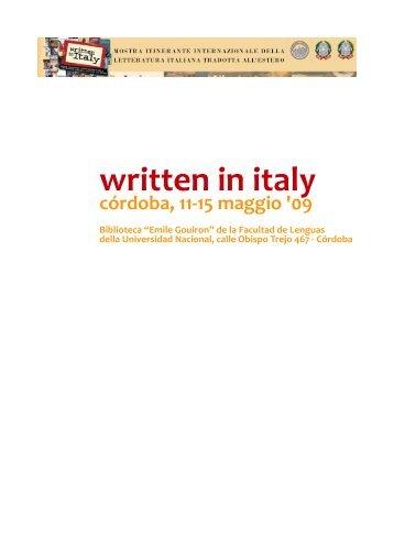 written in italy - Giuliano Volpe - Università degli Studi di Foggia