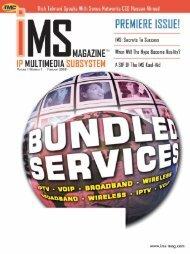IP Multimedia Subsystem - TMC's Digital Magazine Issues