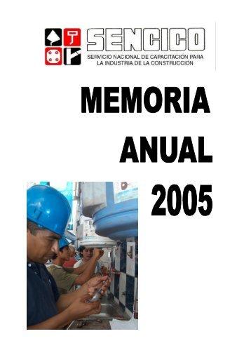 MEMORIA ANUAL 2005 - Sencico