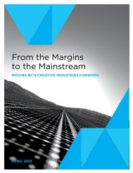 From the Margins to the Mainstream - CMPA-BC