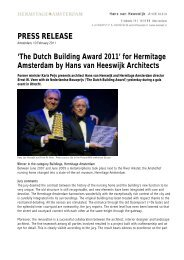 PRESS RELEASE - Hans van Heeswijk architecten