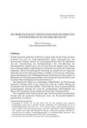 die problematik des verhältnisses der grundrechte zum ... - IAS