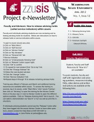 zzusis Newsletter Vol. 12 - Student Information Systems Project