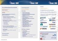 Aus- und Weiterbildungen bei der Sabel GBS www.sabel.com