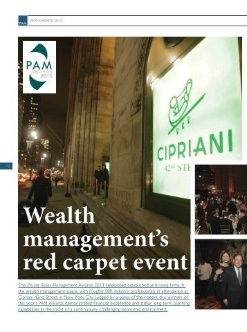 Wealth management's red carpet event