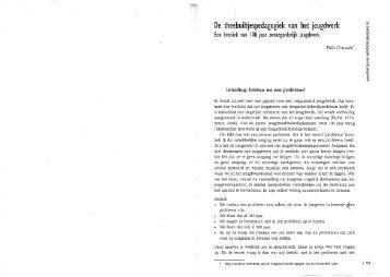 De theebuiltjespedagogiek van het jeugdwerk - History of Social Work