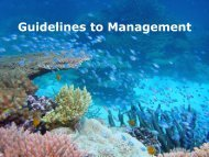 Guidelines to Management - Great Barrier Reef Marine Park Authority