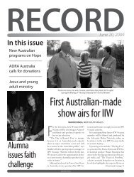 Download the Record as a PDF - RECORD.net.au