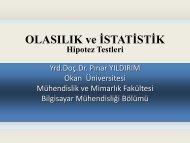 Hipotez testleri - personals.okan.edu.tr - Okan Üniversitesi