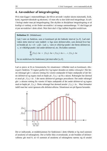 Integralregning - matematikfysik