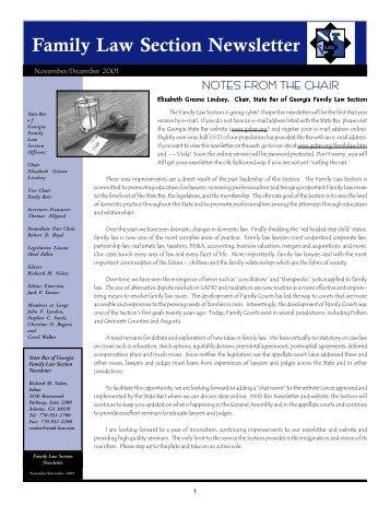 November/December 2001 - Atlanta - Divorce Lawyer - Family Law ...