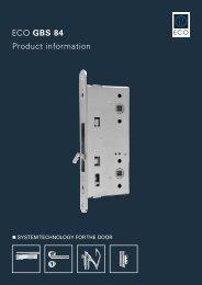 ECO GBS 84 Product information - ECO-Schulte.de