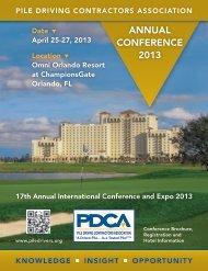 Conference Brochure - Pile Driving Contractors Association