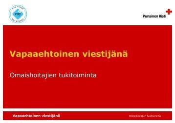 Vapaaehtoinen viestijänä.pdf - RedNet