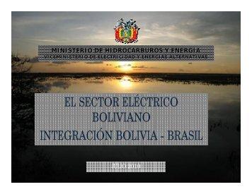 el sector eléctrico boliviano integración bolivia - brasil - Nuca