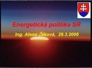 Energetická politika SR