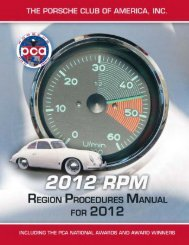 PCA Region Procedures Manual - Porsche Club of America
