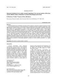 Seasonal variations in mu opiate receptor signaling in the nervous ...