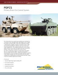 PDFCS Data Sheet - Elbit Systems of America