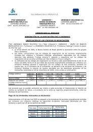 ITAÚ UNIBANCO BANCO MÚLTIPLO S.A. COMPAÑÍA ABIERTA ...