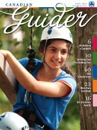 Fall 2012 - Girl Guides of Canada.