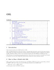 1 Introduction 2 How to Run a Model with OSL