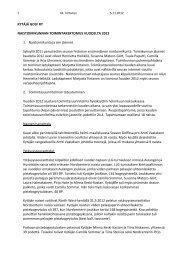 KYTÄJÄ GOLF RY NAISTOIMIKUNNAN TOIMINTAKERTOMUS ...