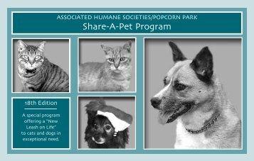 Share A Pet Program - Associated Humane Societies