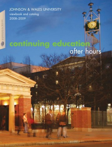 continuing education - Johnson & Wales University