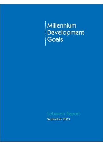 Millennium Development Goals - Arab Human Development Reports