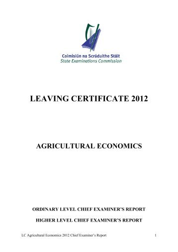 Agricultural Economics Higher Level 2008 - Examinations.ie