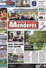 15 Eylül Tarihli Küçükmenderes gazetesi